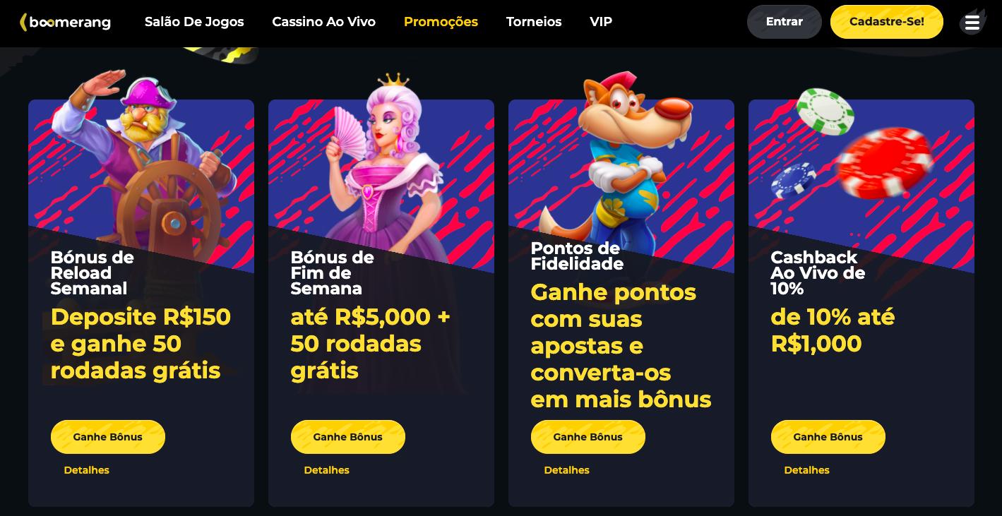 Boomerang cassino Brasil